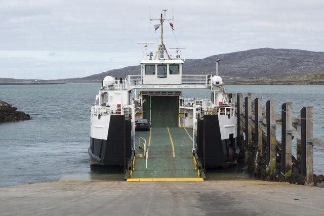 Ferry at the Eriskay ferry slipway