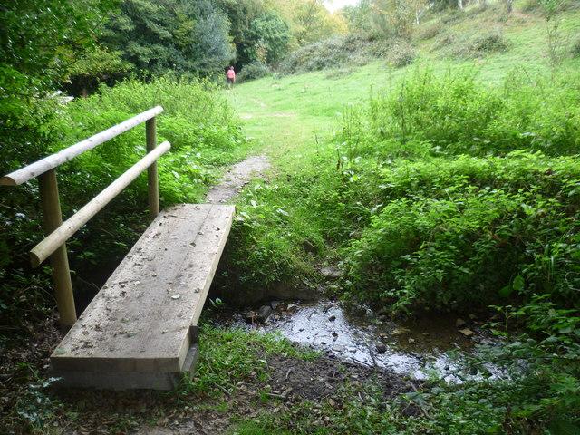 Footbridge over a stream