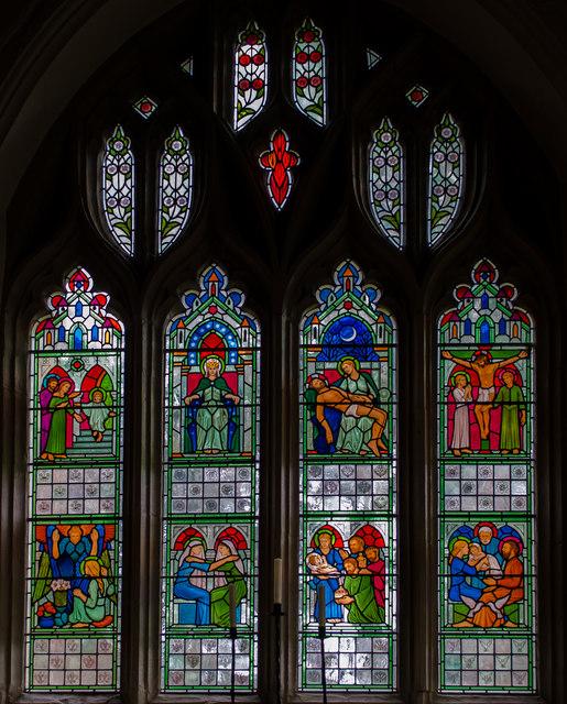 Lady Chapel Window, St Dunstan's church, Mayfield