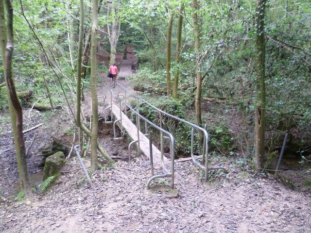Bridge over a stream in Sproud's Wood