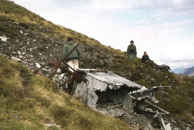 Aircraft wreckage from WWII
