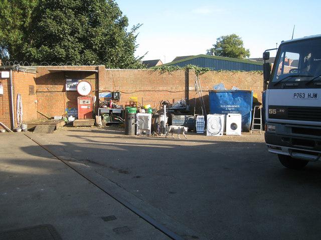 Scrap metal dealer's yard, Wellington Road, Sunday afternoon