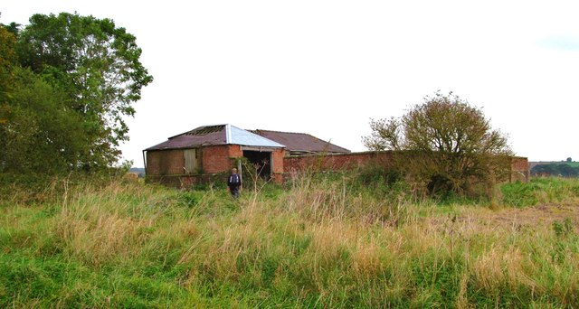 Old agricultural buildings on Haugh Rigg