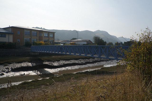 School Bridge over a drain near Conwy
