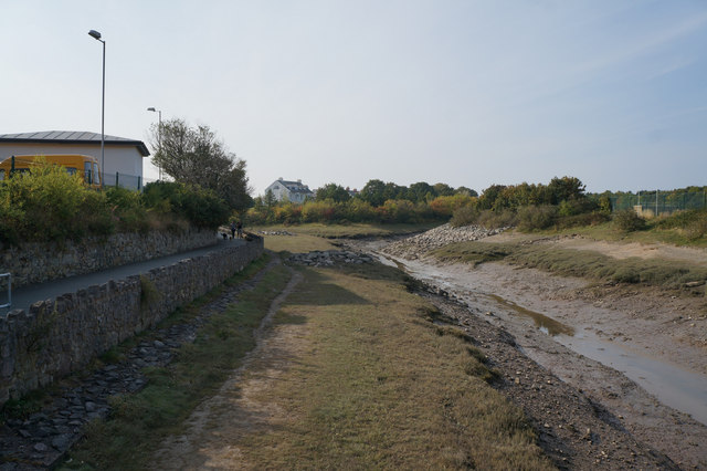 Drain flowing into the River Conwy