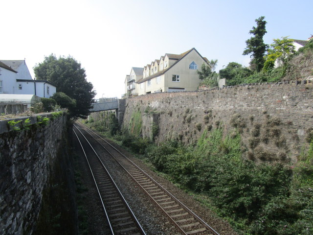 The railway seen from Parson Street bridge