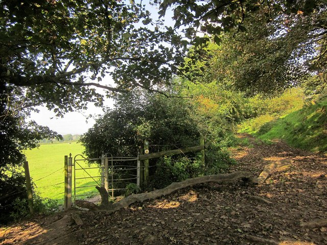 Gate on Cotswold Way at Old Sodbury