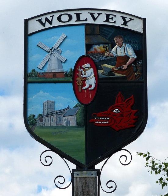 Wolvey village sign