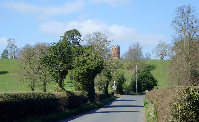 Road approaching Worfield, Shropshire