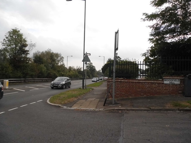 Woodfield Hill at the junction of Brighton Road