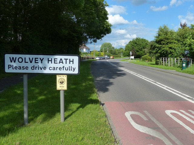 Leicester Road in Wolvey Heath