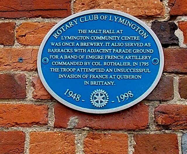 Malt Hall blue plaque, Lymington