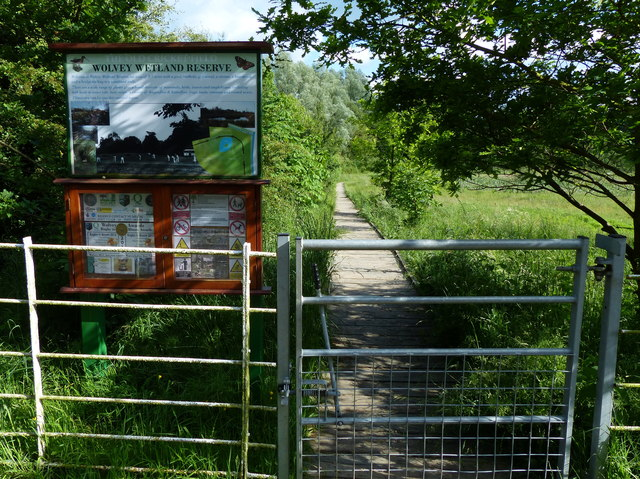 Entrance to Wolvey Wetland Reserve