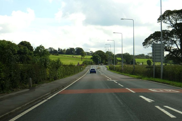 Preston New Road heading towards Blackburn