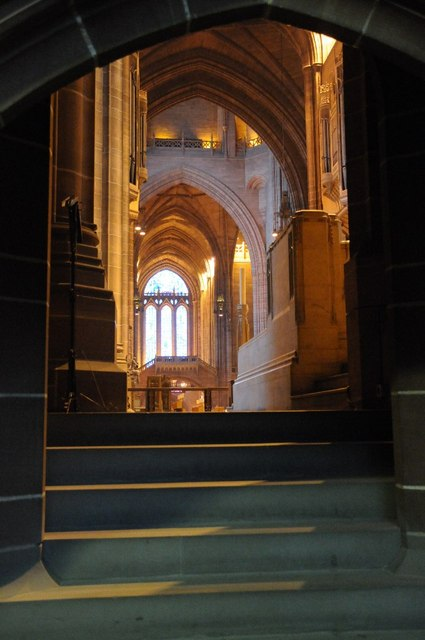 Interior of Liverpool's Anglican Cathedral