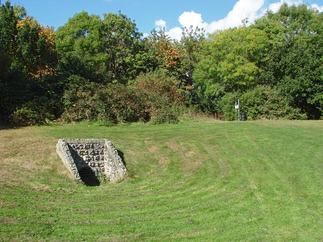 Culvert in Wick's Green recreation ground