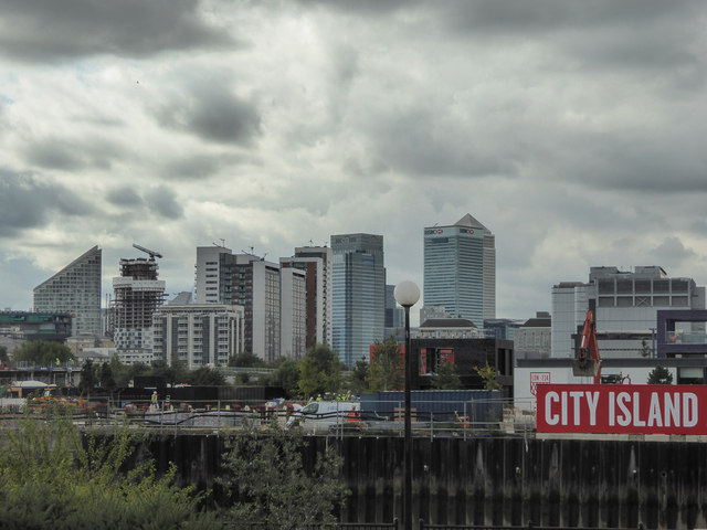 City Island as seen from Canning Town, London
