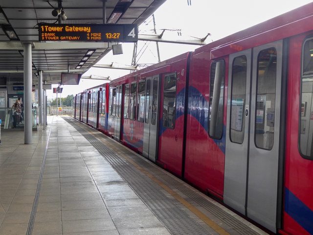 Canning Town Station, Docklands Light Railway, London