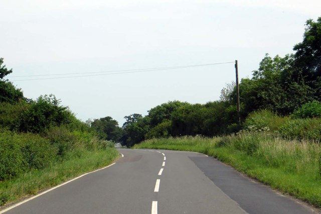 The road to Marsh Gibbon
