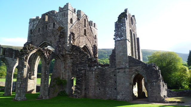 Part of Llanthony Priory ruins