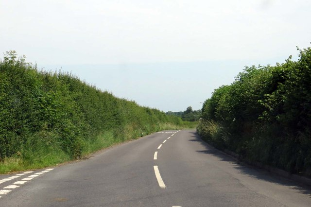 Rural road to Charndon