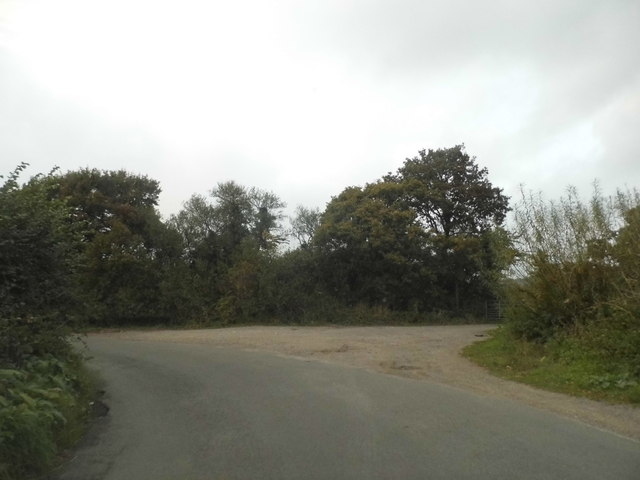 Bend on Church Lane, Bletchingley