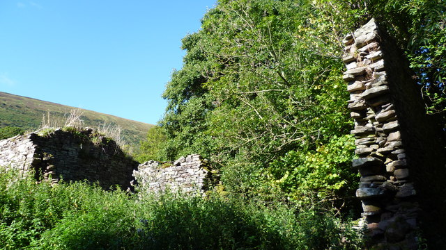 Ruined barn in the Llanthony Valley