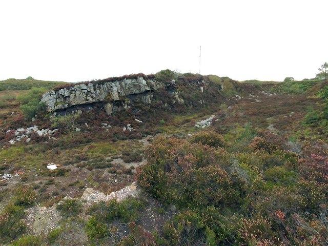 Old quarry on Mynydd Carmel