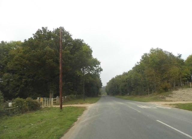 Whitehill Lane north of Bletchingley