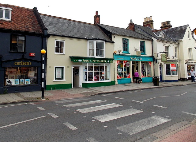 Zebra crossing, St Thomas Street, Lymington