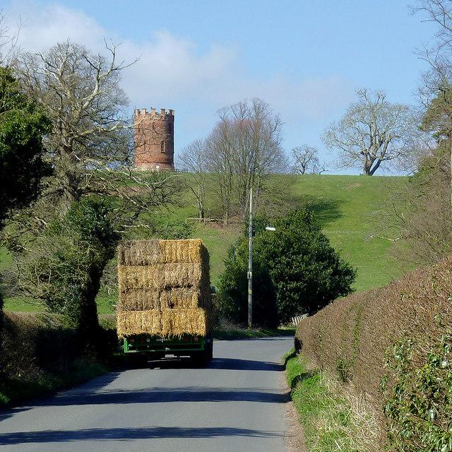 Straw bales near Worfield, Shropshire