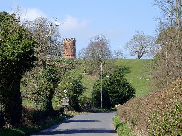 Lane approaching Worfield, Shropshire