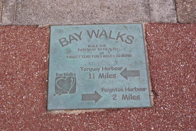 Bay Walks plaque