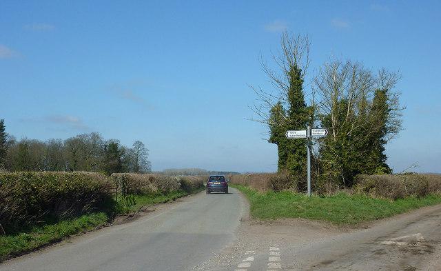 The lane to Catstree near Worfield, Shropshire