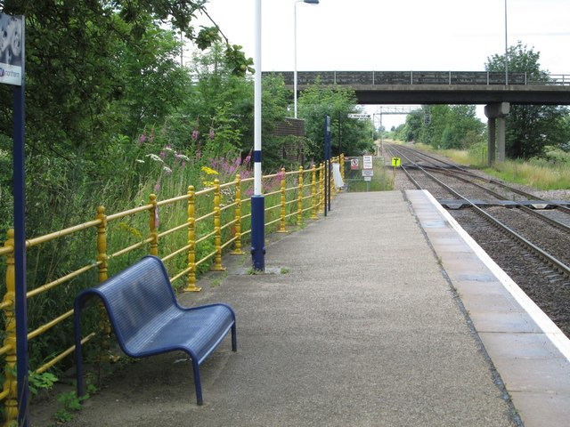 Crowle - view west from west-bound station platform