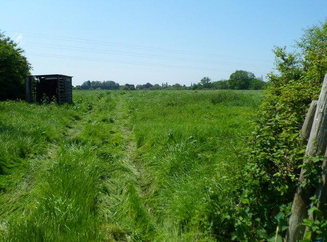 Track through a field NE of Fretherne