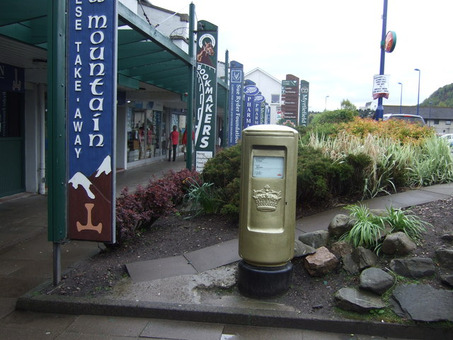 Gold Post Box, Aviemore
