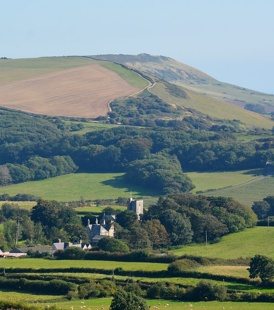 View over Steeple, Isle of Purbeck, Dorset