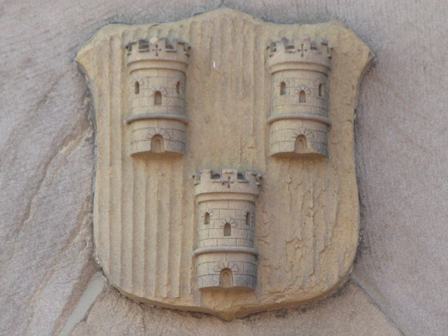 Coat of arms on the first Tynemouth station