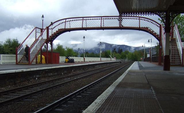 Footbridge, Aviemore Railway Station