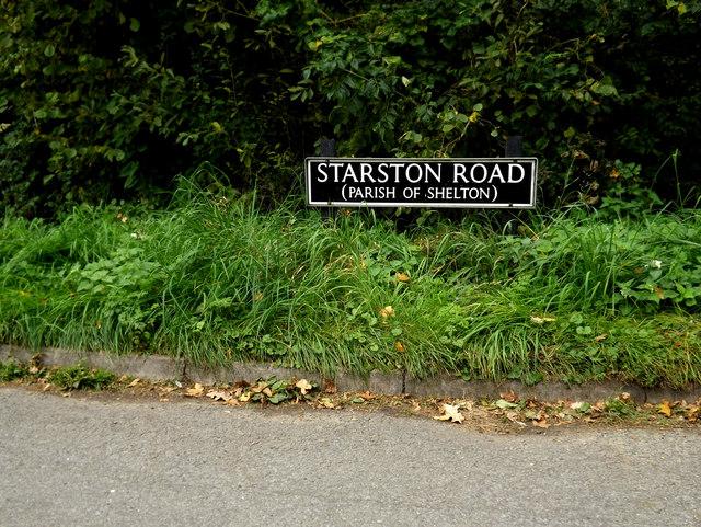 Starston Road sign