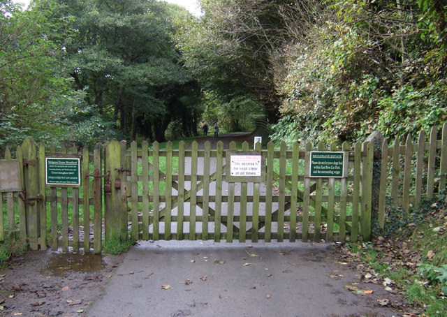 Entrance to Mulgrave Estate Woodland