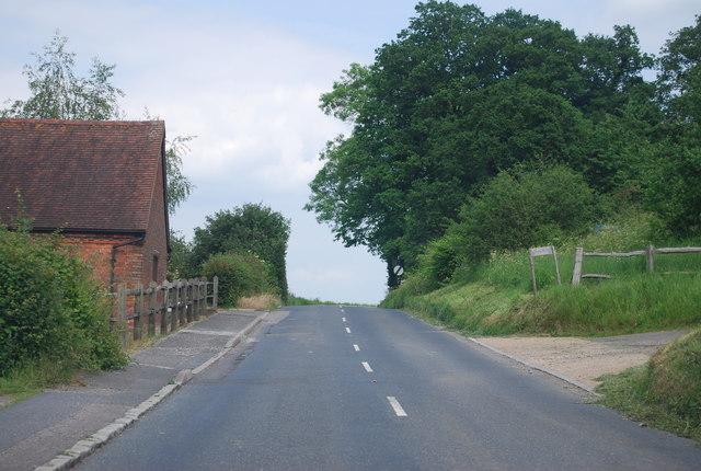 B2110 passing Castle Farm