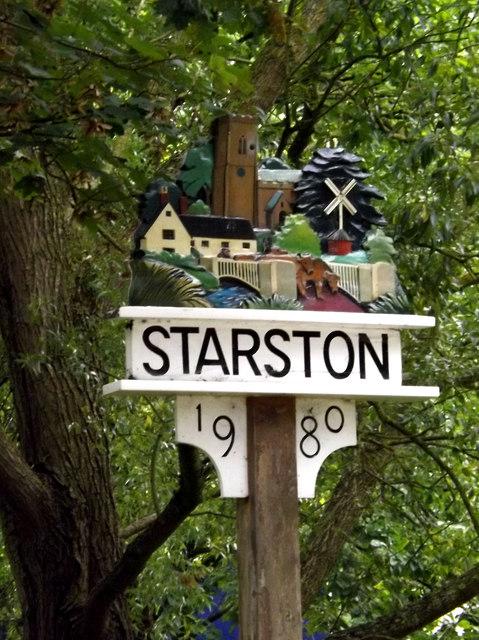 Starston Village sign