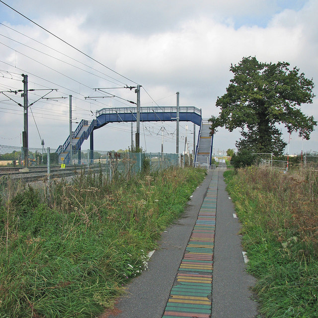 New footbridge and the Genome Path