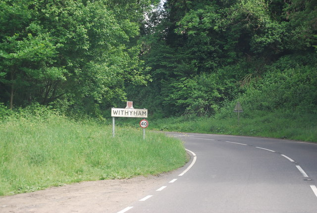 Entering Withyham, B2110