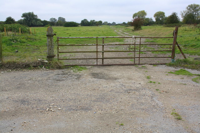 Gate across track towards disused rifle range