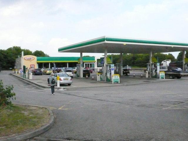 Petrol Station on Newmarket Heath