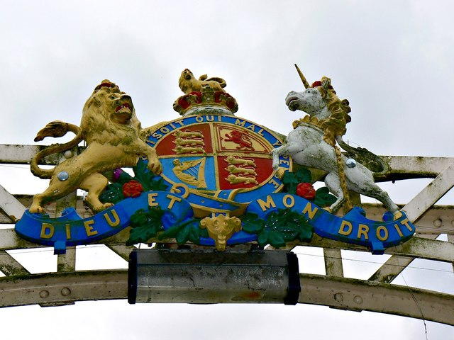 Coat of arms, Victoria Bridge, Hereford