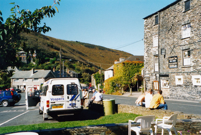 An old meaning of website-Boscastle, Cornwall